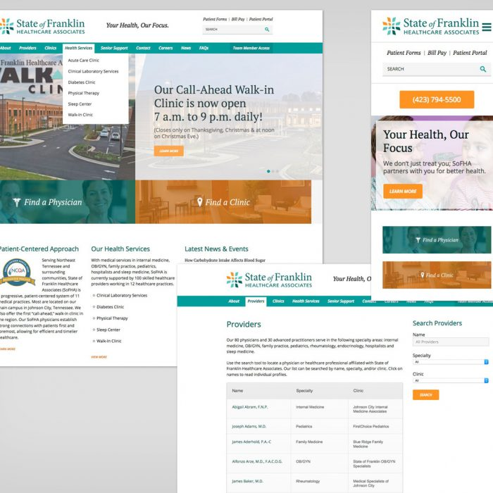 State of Franklin Healthcare Website