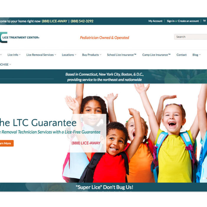 Lice Treatment Center Website